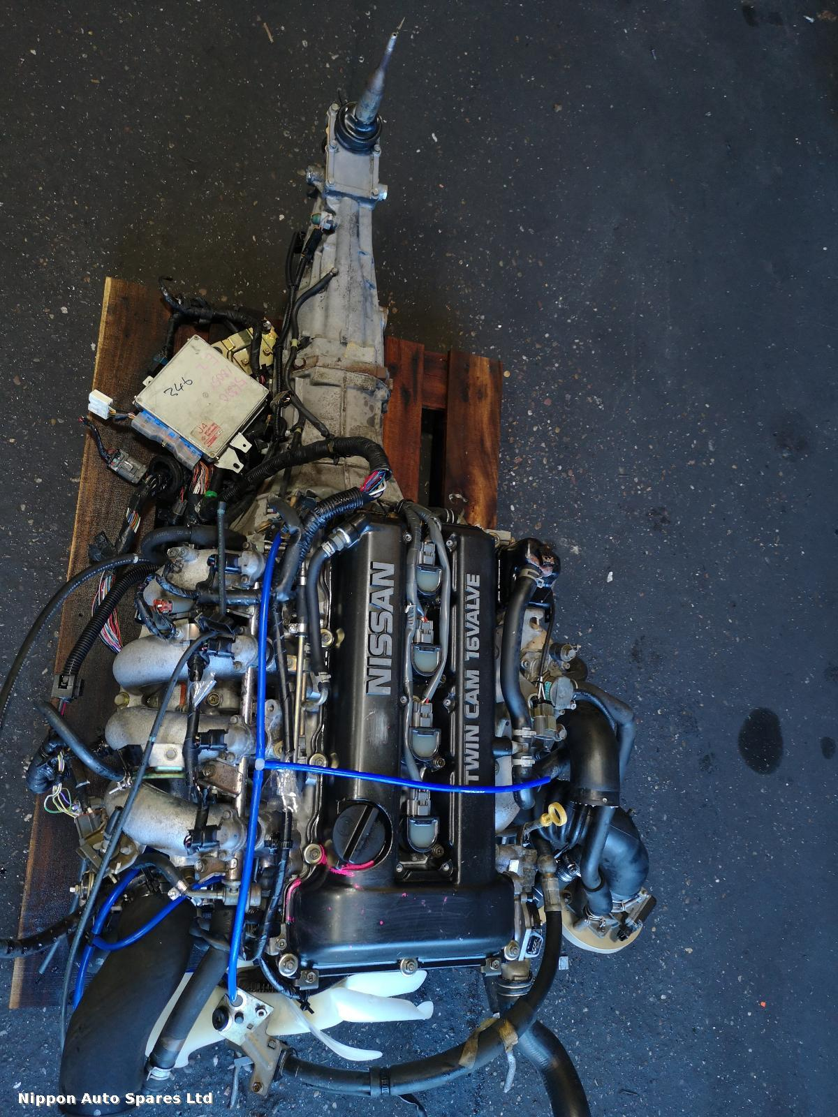 Nissan SILVIA Engine SR20-DET FULL SWAP WITH GEARBOX ECU : 56962